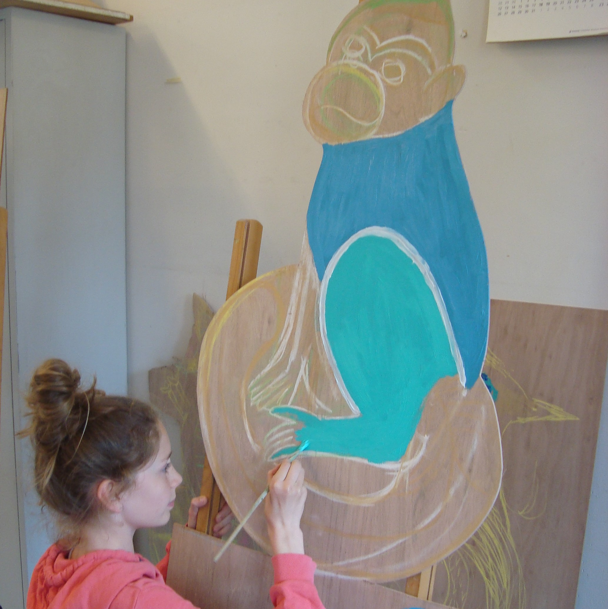 Talentenklas voor kinderen op dinsdag - schilderen op hout