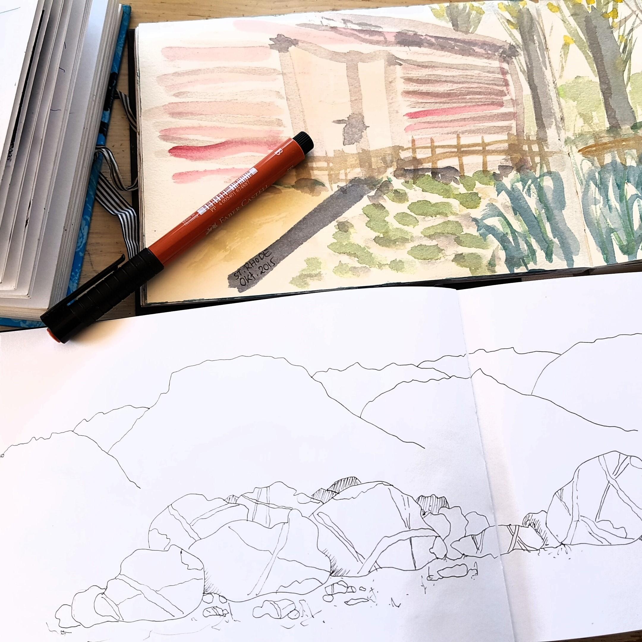 Tekenen op vakantie - op papier en op de smartphone