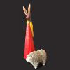 Paashaas en schaapje van papier maché