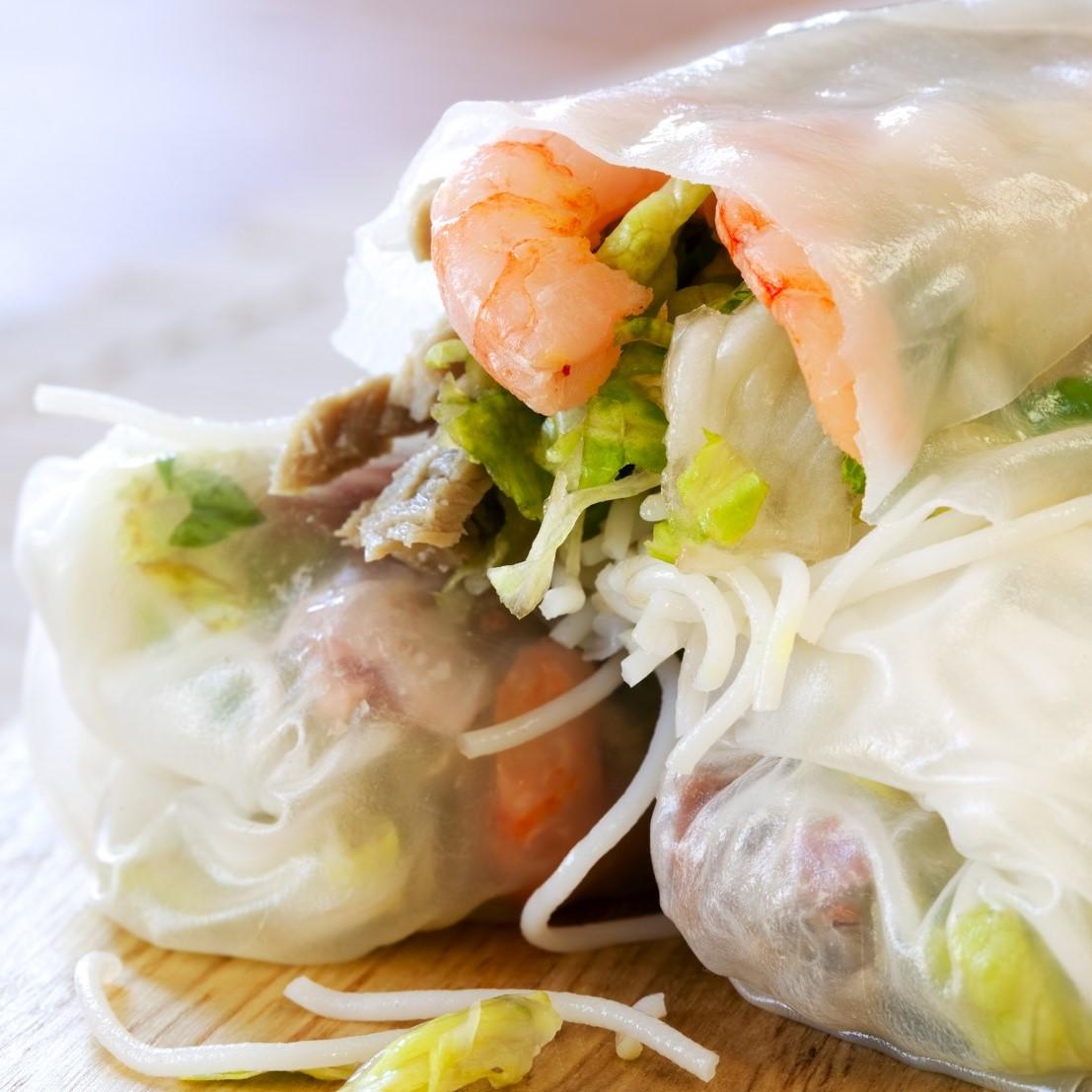 Vietnamese springrolls two ways