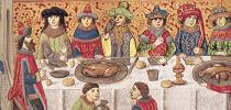 Aan tafel in de Middeleeuwen