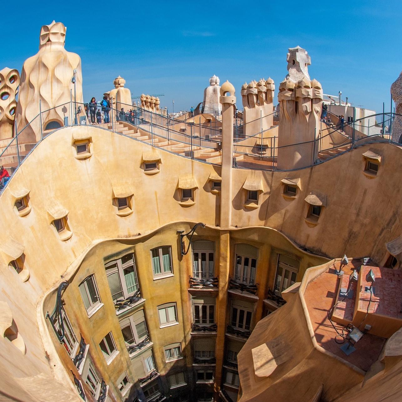 De zeven werelderfgoed bouwwerken van Antoni Gaudi
