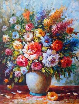 Voorjaarsbloemen schilderen