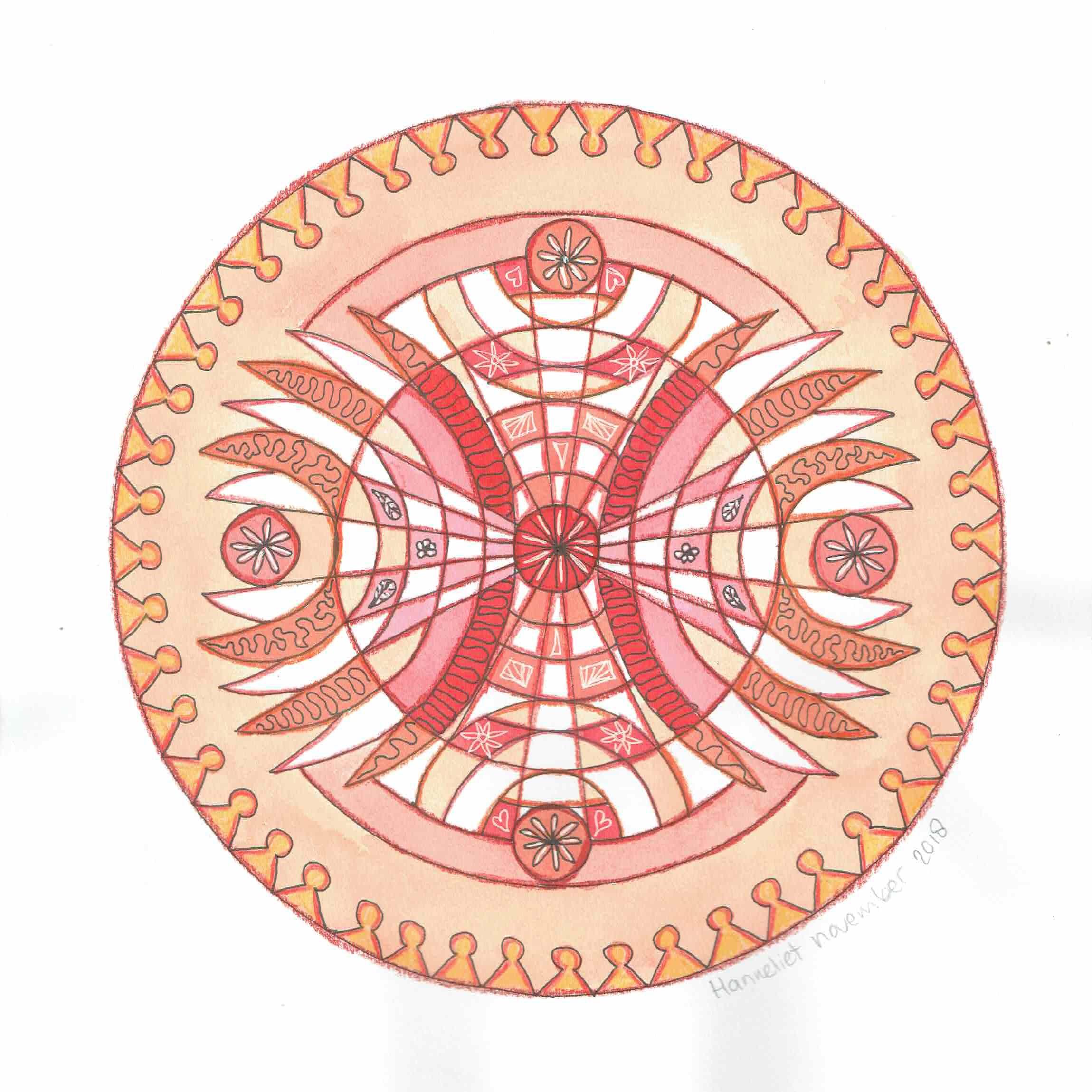 Mandala tekenen voor geoefenden