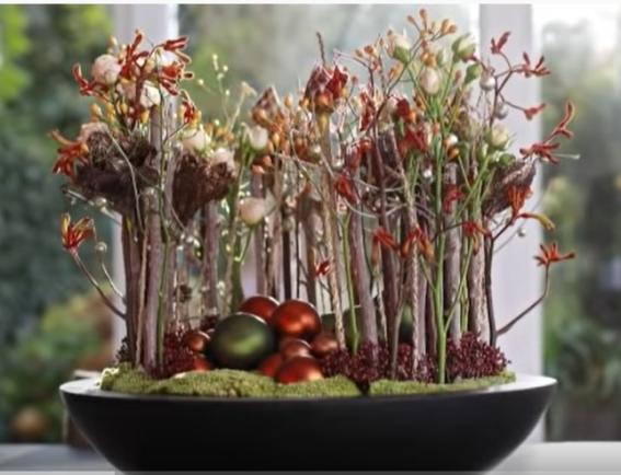 Japans bloemschikken voor de Kerst