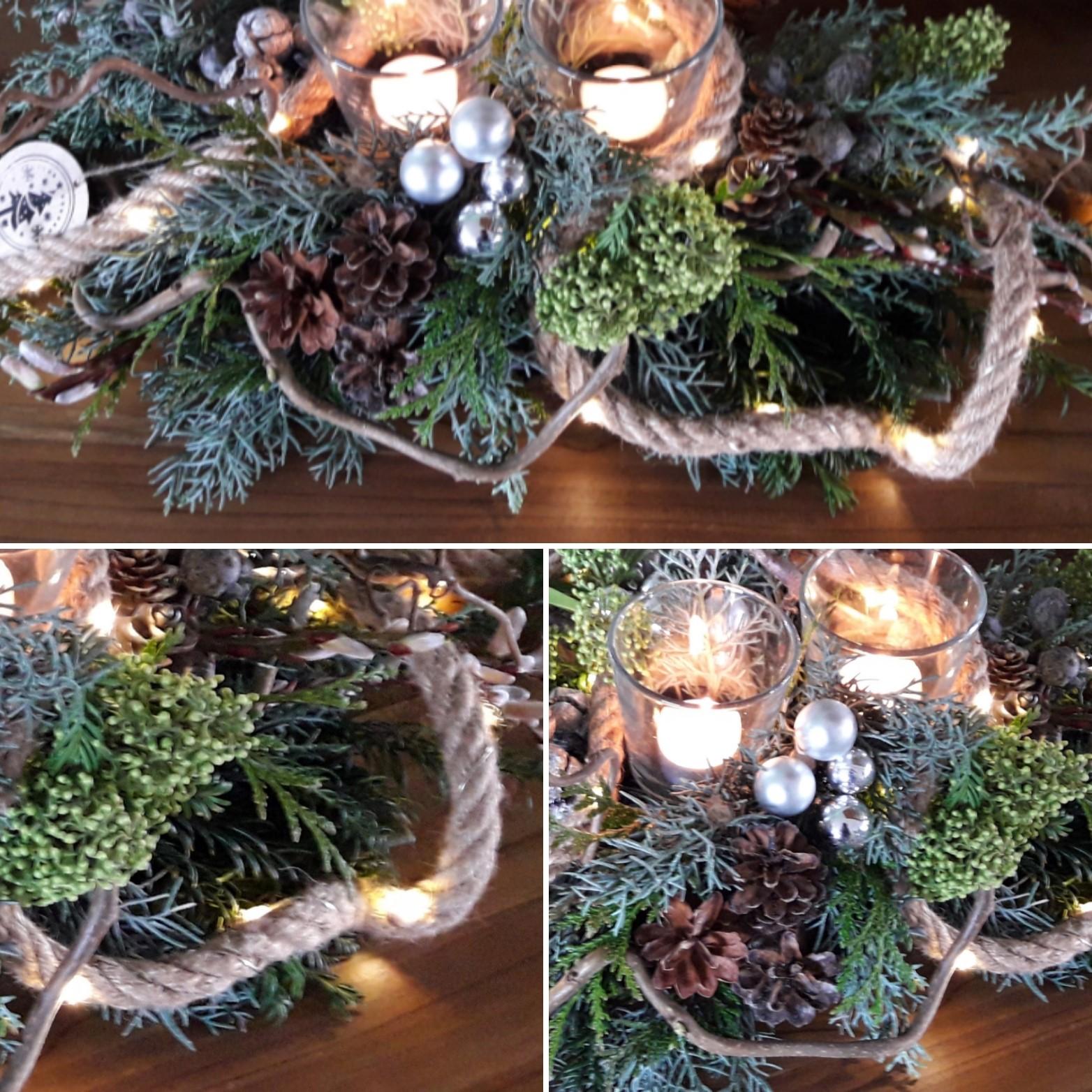 Mooi langwerpig kerststuk in je eigen stijl en kleur