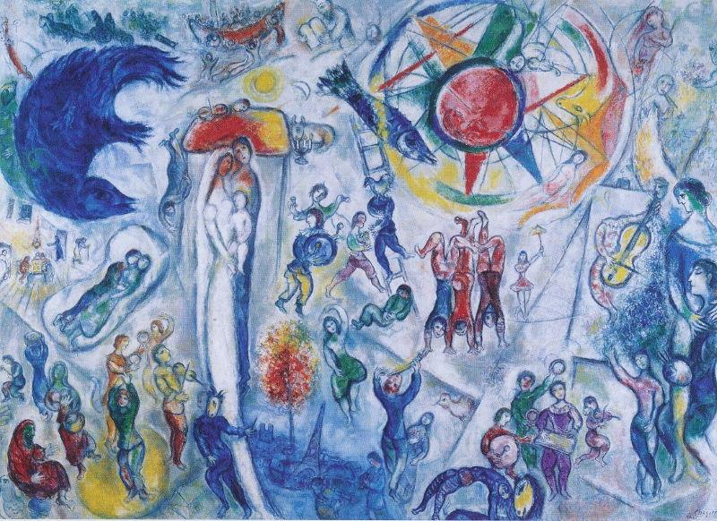 Chagall, licht en kleur, stralend in bijbels perspectief