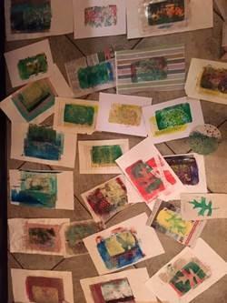 Creatieve Workshop: Gel Plate Prints & kerstkaarten maken