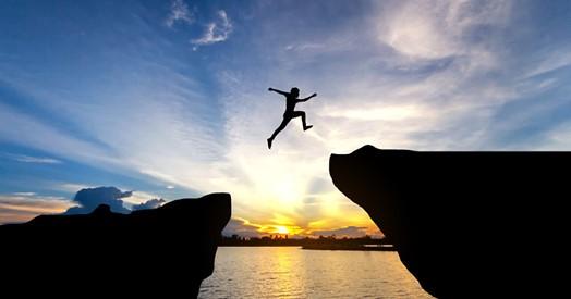 een gewaagde sprong