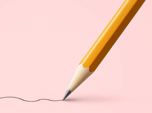Tekenen potlood; Mens & Dier