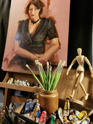 Portret/modeltekenen en -schilderen (Klaas-Jan Mulder)