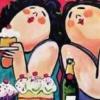 Maak je eigen kunstwerk: vrolijke dames